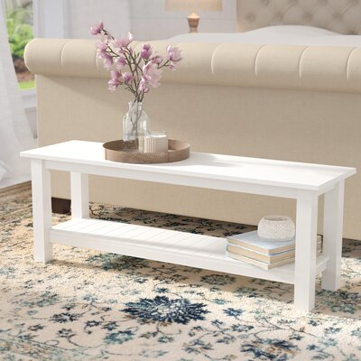 Urmee bench Color: Whte