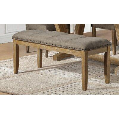 Bellegarde Upholstered Bench Upholstery: Brown