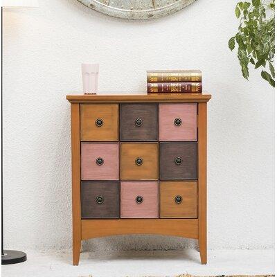 Riccio 9 Drawer Accent Cabinet Color: Brown