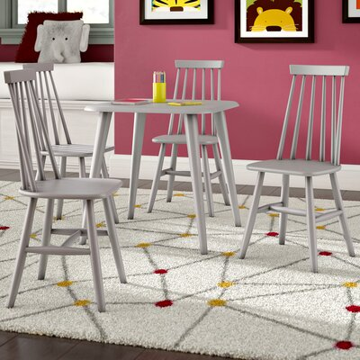 Bales Kids 5 Piece Square Table and Chair Set Table Color / Chair Color: Gray / Gray
