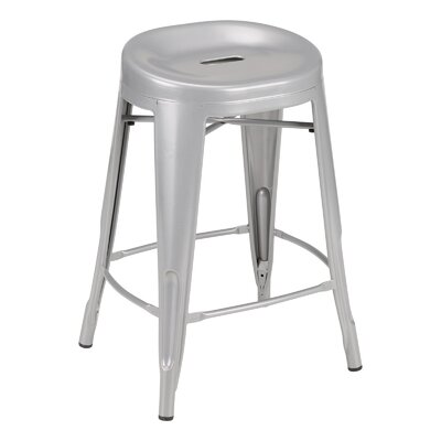 """Benji 24"""" Bar Stool Color: Silver"""