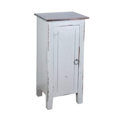 Ally 1 Door Accent Cabinet Color: Old Java/Antique Gray