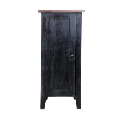 Ally 1 Door Accent Cabinet Color: Raftwood/Antique Black