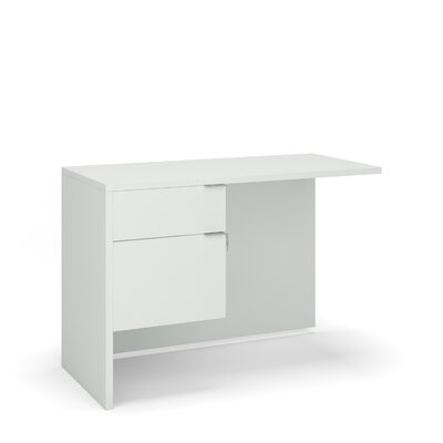 "Emilie 29"" H Desk Return Size: 29"" H x 42"" W x 20"" D, Color: White"