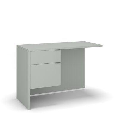 "Emilie 29"" H Desk Return Size: 29"" H x 42"" W x 20"" D, Color: Gray"