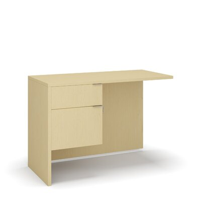 "Emilie 29"" H Desk Return Size: 29"" H x 42"" W x 20"" D, Color: Mahogany"
