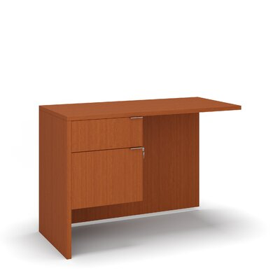 "Emilie 29"" H Desk Return Size: 29"" H x 42"" W x 20"" D, Color: Cherry"