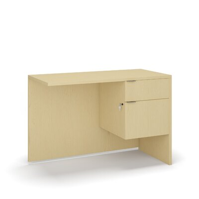 "Krista 29"" H Desk Return Size: 29"" H x 42"" W x 20"" D, Color: Mahogany"