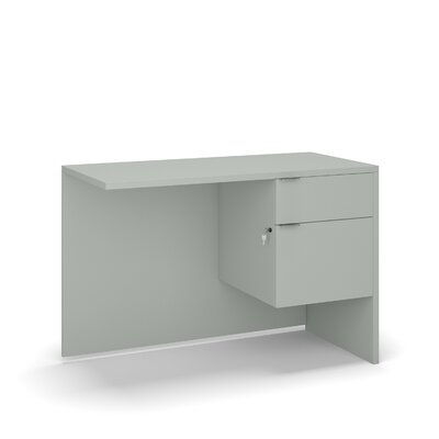 "Krista 29"" H Desk Return Size: 29"" H x 42"" W x 20"" D, Color: Gray"