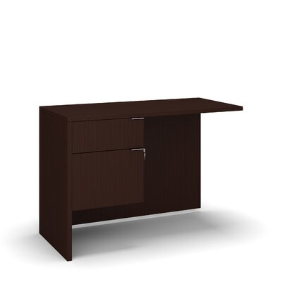 "Emilie 29"" H Desk Return Size: 29"" H x 42"" W x 20"" D, Color: Hardrock"