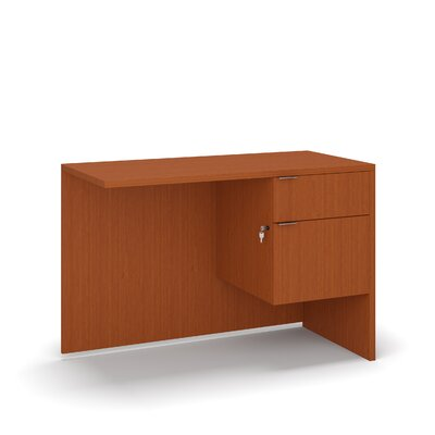"Krista 29"" H Desk Return Size: 29"" H x 42"" W x 20"" D, Color: Cherry"