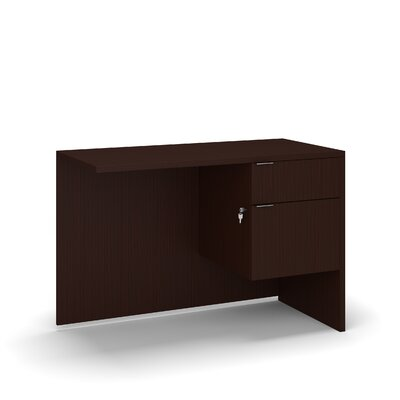 "Krista 29"" H Desk Return Size: 29"" H x 42"" W x 20"" D, Color: Hardrock"
