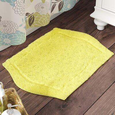 "Shera Bath Rug Size: 17"" W x 24"" L, Color: Yellow"
