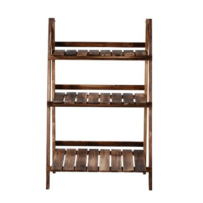 """Odin Wooden Multi-Tiered Plant Stand Size: 24"""" x 14"""""""