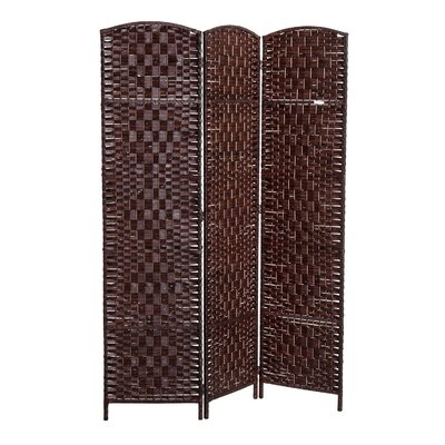 Roche Room Divider Color: Brown, Number of Panels: 3