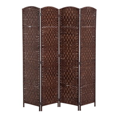 Roche Room Divider Color: Brown, Number of Panels: 4