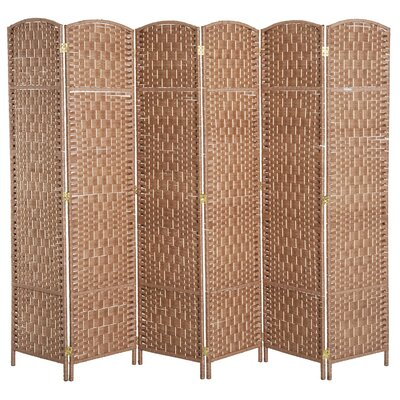 Roche Room Divider Color: Natural Wood, Number of Panels: 6