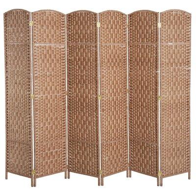 Roche Room Divider Color: Natural Wood, Number of Panels: 6