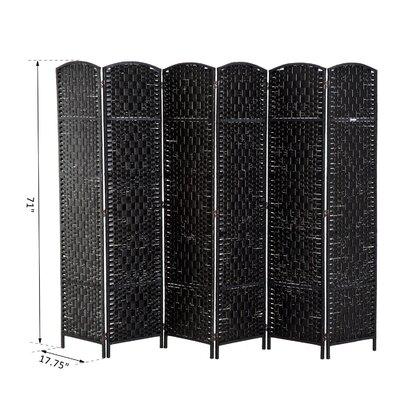Roche Room Divider Color: Black, Number of Panels: 6