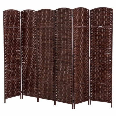 Roche Room Divider Color: Brown, Number of Panels: 6