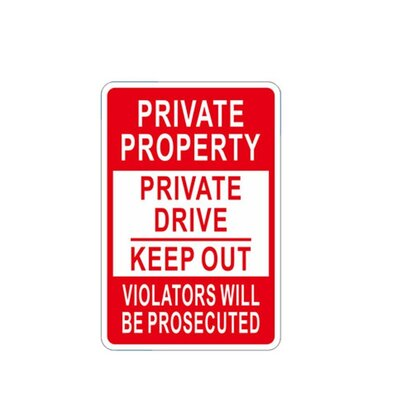 No Trespassing Novelty Private Property Sign