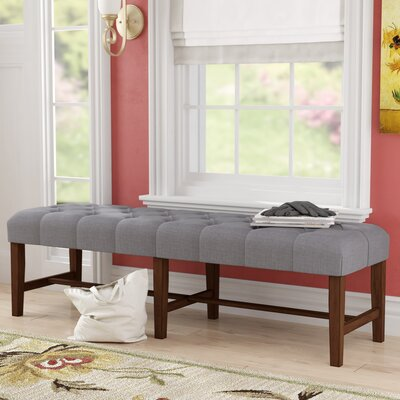 Gawley's Gate Upholstered Bench Color: Dove Grey