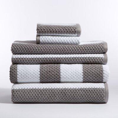 Teshawn 6 Piece 100% Cotton Towel Set Color: Nickel
