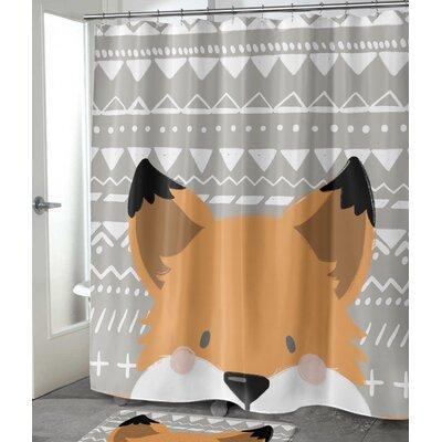 """Folmar Fox Shower Curtain Size: 72"""" H x 70"""" W"""