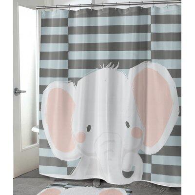 "Allenville Elephant Shower Curtain Size: 72"" H x 70"" W"