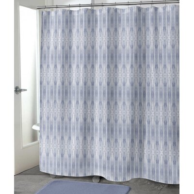 "Hoefer Shower Curtain Size: 90"" H x 70"" W, Color: Pale Indigo"