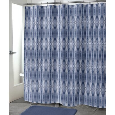 "Hoefer Shower Curtain Size: 72"" H x 70"" W, Color: Dark Indigo"