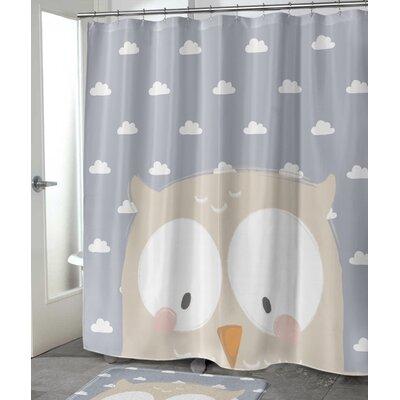"""Alzado Owl Shower Curtain Size: 72"""" H x 70"""" W"""