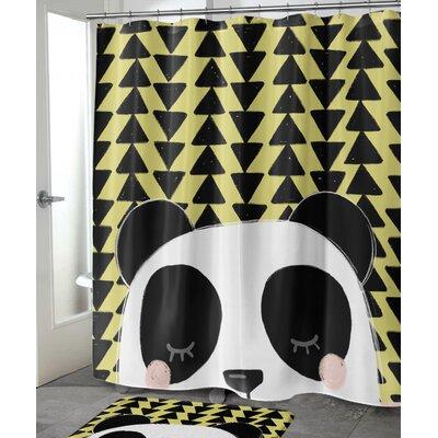 "Foulks Panda Shower Curtain Size: 72"" H x 70"" W"
