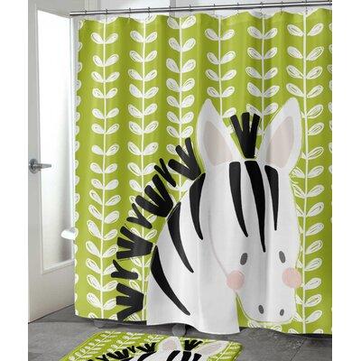 "Allerdale Zebra Shower Curtain Size: 72"" H x 70"" W"