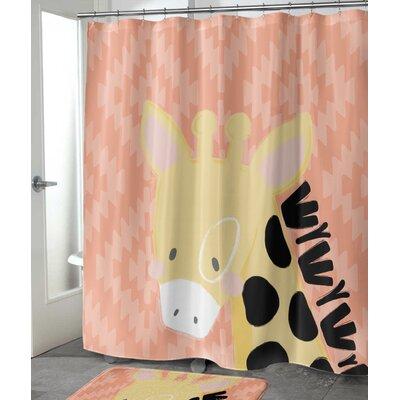 """Roberta Giraffe Shower Curtain Size: 72"""" H x 70"""" W"""