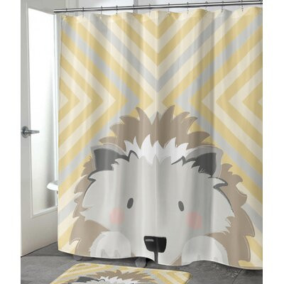 "Bexton Hedgehog Shower Curtain Size: 90"" H x 70"" W"