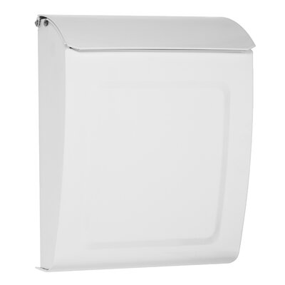 Aspen Locking Wall Mounted Mailbox Mailbox Color: White