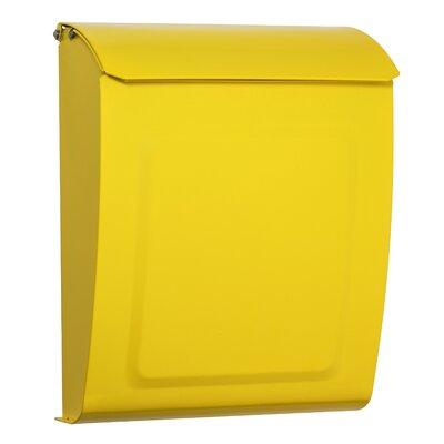 Aspen Locking Wall Mounted Mailbox Mailbox Color: Yellow