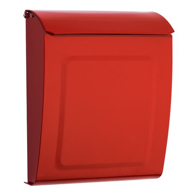 Aspen Locking Wall Mounted Mailbox Mailbox Color: Red