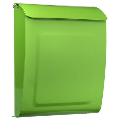 Aspen Locking Wall Mounted Mailbox Mailbox Color: Lime Green