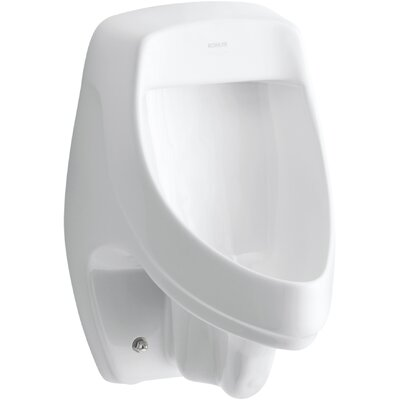 Dexter Siphon-Jet Wall-Mount 0.5 or 1.0 GPF Urinal with Rear Spud, Antimicrobial