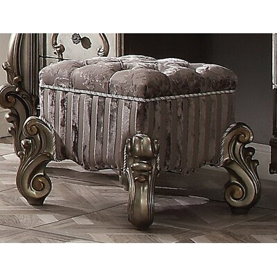 Tanner Vanity Stool Color: Antique Platinum