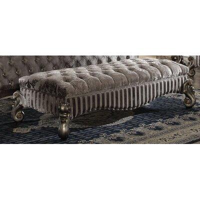 Tanner Wood Bench Color: Antique Platinum