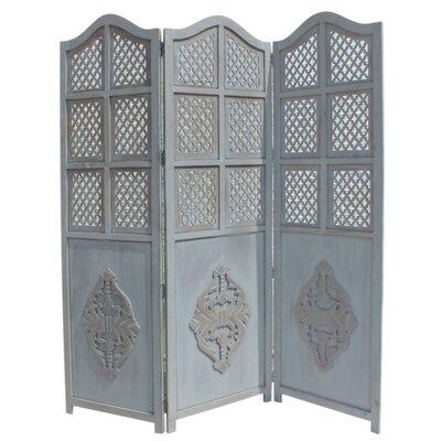 Ervine Wooden Foldable 3 Panel Room Divider