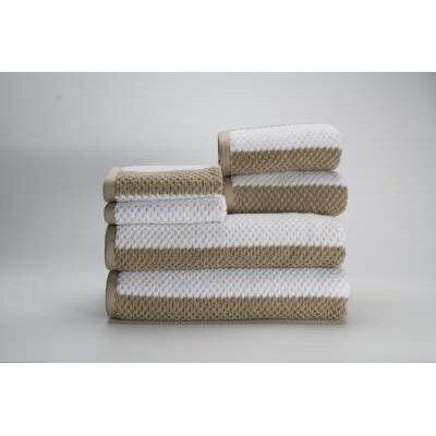 Teshawn 6 Piece 100% Cotton Towel Set Color: Beige