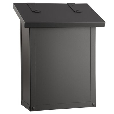 Classic Wall Mounted Mailbox Finish: Textured Black
