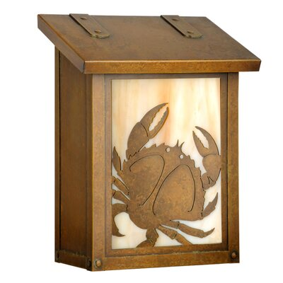 Coastal Cottage Wall Mounted Mailbox Finish: Warm Brass, Glass Color: Champagne