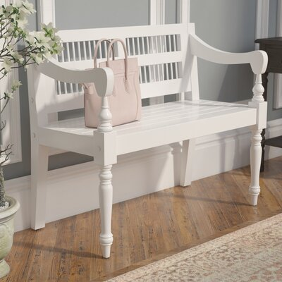 Poppy Wood Bench Color: Crisp White