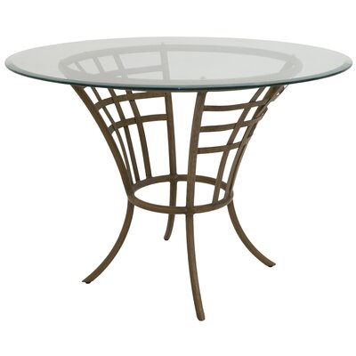 Meza Dining Table Base Color: Distressed Gold