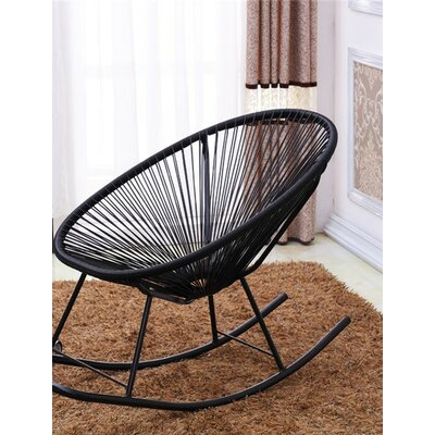 Bradley Rocking Chair Color: Black